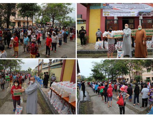 疫情關懷社會 捐助醫療設備及日常用品給佛教徒