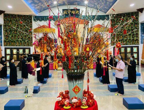 新春向佛陀拜年信衆祈福團拜上佛供大典 – New Year's greetings to the Lord Buddha & Auspicious Buddha Offering Puja.